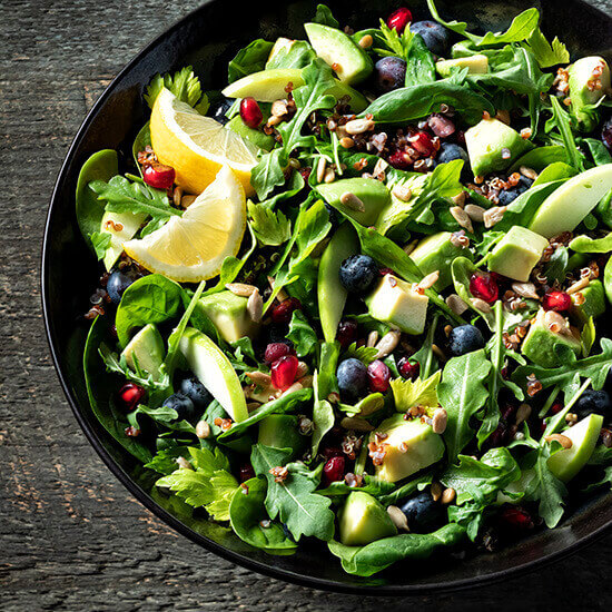 Avocado Spinach And Arugula Salad Recipe Simplot Foods